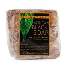 100%ナチュラル アフリカンブラックソープ 473g (16oz)  にきび・脂性肌のための自然石鹸 by コースタルセンツ