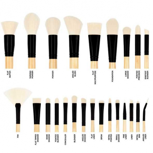 コースタルセンツの「24種類のプロ 化粧品ブラシセット エリートブラシ ブラック」 断然
