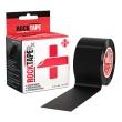 ロックテープRx  (ブラック) 敏感肌の方におすすめな肌に優しいタイプ