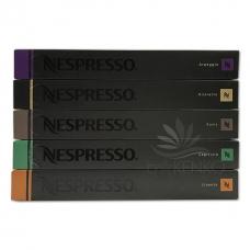 ネスプレッソコーヒー 5タイプ詰め合わせセット (1箱10個 x 5箱 合計50個入り)